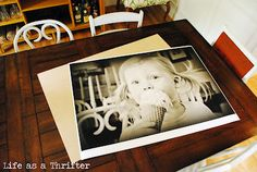 poster print mounted on plywood