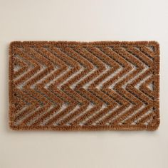 Our Chevron Coir and Wire Doormat is crafted of coir, an eco-conscious natural fiber taken from coconut husks, with galvanized iron wire for added Entryway Rug, Hallway Rug, Home Goods Decor, Happy House, Coir, World Market, Welcome Mats, Home Decor Wall Art, Doormat
