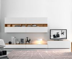 FGF Mobili Wohnwand C42B Design TV Wall Made in Italy