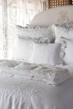 Of Rest and Restoration: Pandora de Balthazar Queen Bedding Sets, Luxury Bedding Sets, Bed Linen Australia, Dreams Beds, Coastal Bedrooms, Bed Linen Design, Bed Linen Sets, Linens And Lace, Cool Beds