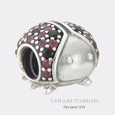 Authentic Pandora Sterling Silver Sparkling Ladybug CZ Bead 791484CFR - http://elegant.designerjewelrygalleria.com/pandora/authentic-pandora-sterling-silver-sparkling-ladybug-cz-bead-791484cfr/