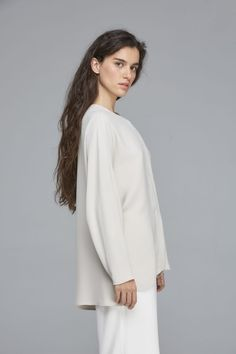 Blusa Marlene Manga Raglan, Normcore, Long Sleeve, Sleeves, Tops, Women, Style, Fashion, Blouse