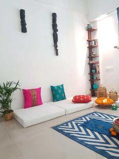 Home Design Drawing Kajal Tyagi home tour TheKeybunch Ethnic Home Decor, Indian Home Decor, Indian Decoration, Diy Room Decor, Living Room Decor, Bedroom Decor, Home Design, Living Pequeños, Best Interior Design Blogs