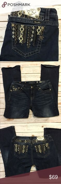 """Miss Me Studded Boot Cut Jeans Worn twice. Beautiful studded back pockets. No studs missing. Size 31/31"""". Miss Me Jeans Boot Cut"""
