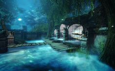 Fantasy, Street, Night, City, Cities, Fantasy Books, Fantasia, Walkway