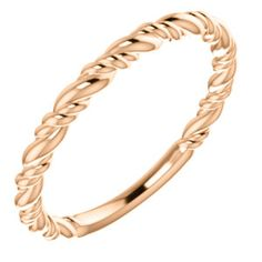 14kt Rose Stackable Rope Ring