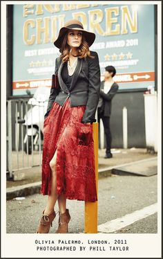 red skirt, hat, oxford heels, jacket, pockets, fashion