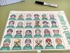 Recursos de Andrea: ¿Quién es quién? Catalan Language, English Class, Table Games, France, Ideas Para, It Cast, Teaching, Baseball Cards, Superhero