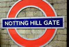 The famous Notting Hill in the Notting Hill movie in London. Notting Hill Movie, Movies In London, Chicago Cubs Logo, Team Logo, England, English, British, United Kingdom