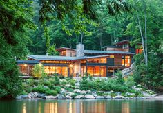 Check out my dad's design. He's an architect in the Ottawa area. Conrado Canolo he works at Christopher Simmonds Architect. Muskoka Cottage