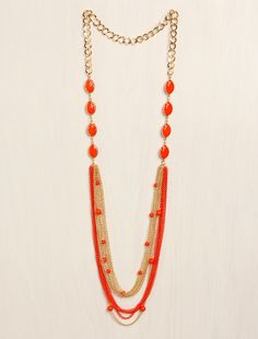 Faceted Beads Layer Necklace from LoveCulture $10
