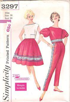 Vintage Simplicity Sewing Pattern 3297 by GrandmaMadeWithLove