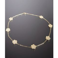 Jardin Gold Cz Pave Clover 18'' Necklace ($202) found on Polyvore