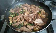 Salteado de carne al estilo oriental
