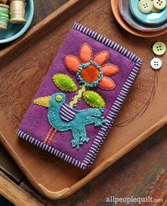 Bird & Bloom Needle Keeper by @suespargo.