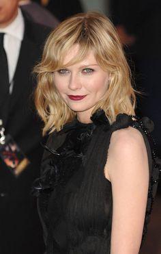 Kirsten Dunst Hairstyles 2015, Ambassador of L'Oreal Professional : Kirsten Dunst L'oreal Professionnel Medium Length Hair