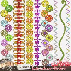 Benthaicreations OhMazing Embroideries Borders