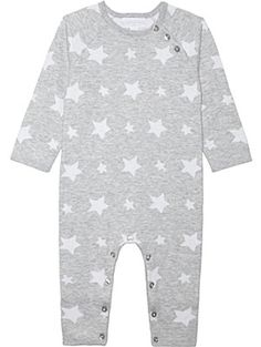 9ae7403e44681 THE LITTLE WHITE COMPANY Stars knitted cotton baby-grow Newborn-24 months  Designer Baby