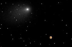 NASA used its extensive fleet of science assets, particularly those orbiting and roving Mars, to image and study this once-in-a-lifetime comet flyby. Description from science.nasa.gov. I searched for this on bing.com/images