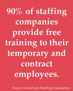 Of Staffing Employees Say They Developed New Or Improved Work