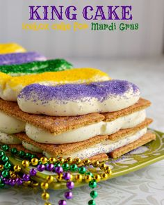King Cake Icebox Cake Recipe for Mardi Gras