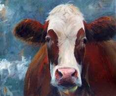 cow painting - etsy.