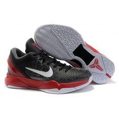 brand new 3d4b3 1ecb7 Neue Ankunft Nike Zoom Kobe VII Männerschuhe Schwarz Silber Rot Schuhe  Online   Kaufen Nike Kobe