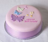 Fiona Cairns Butterfly Birthday Cake