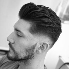 Side Quiff + Low Skin Fade