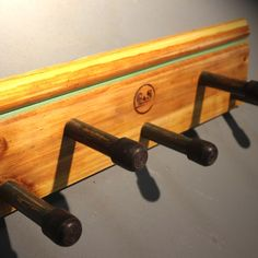 Coat Hooks made from repurposed set structures - Production: Nag van Legio. Manufactured by GAS Creations   Coat Hooks, Repurposed, Van, Vans, Coat Stands, Upcycle