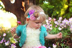 Pink Flower Headband. Pink Rosette Headband..Baby Flower Headband..Fabric Rosette Headband..Flower Rosette Headband..pink..purple.blue.FIORA