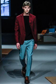 This fall, we will seeing a lot of mens jackets and coats in a various shades of red. Designers seem to be playing with numerous textures and materials to play up or mute the reds they are showing. Prada-Fall-2013-Menswear-Collection-19.jpg 450×675 pixels
