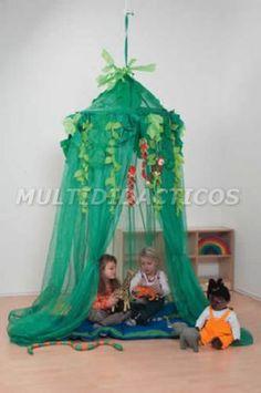 #Cortina #infantil #verde fantasía para hacer rincones especiales - Tienda Educamueble