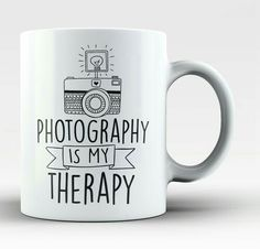Photography is my therapy! The perfect coffee mug for any proud photographer! Order yours today. Take advantage of our Low Flat Rate Shipping - order 2 or more and save. - Printed and Shipped from the Oooh I want I need I must have Dslr Photography Tips, Quotes About Photography, Photography Gifts, Photography Backdrops, Photography Business, Love Photography, Digital Photography, Product Photography, Photography Magazine