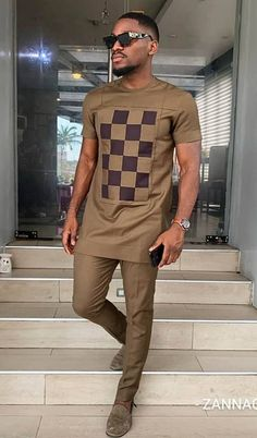 Imole African men shirt and a matching pant set/African clothing/African men clothing/African men shirt /dashiki/summer/prom/groom suit This elegant outfit is handmade with love. The shirt is designed Latest African Men Fashion, African Wear Styles For Men, African Shirts For Men, Nigerian Men Fashion, African Dresses Men, African Attire For Men, African Clothing For Men, African Print Fashion, Ankara Fashion