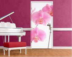 Deurbehang - zelfklevend Mellow Orchids