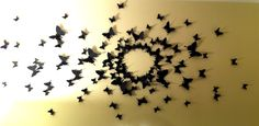 DIY Butterfly Wall   inspired by Serena Van der Woodsen's room
