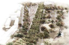 garden of the 21st century in warsaw, poland by mecanoo architecten, alongside michael van gessel, delva landscape architects and jojko nawrocki architekci