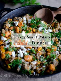 Turkey skillet dinner | from Art From My Table --- Easy one pot meal ...