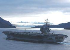 USS Ronald Reagan navigates the Strait of Magellan 2004