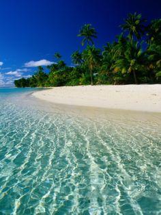 Tropical Beach, Cook Islands Photographic Print