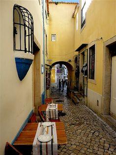 The narrow #streets of #Lisbon, #Portugal