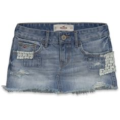 Hollister Co Hollister Denim Skirt ($45) ❤ liked on Polyvore
