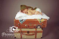 Newborn traveler - baby boy