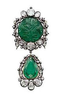 Antique emerald brooch, Warren Hastings