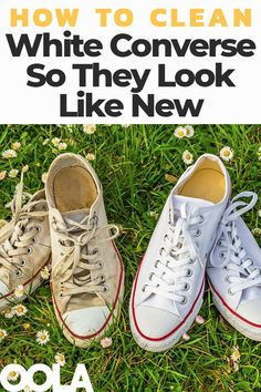 While it's unrealistic to not get your Converse dirty or scuff them, you can bring them back to life with a little TLC. Here is the only fool-proof guide cleaning your white Converse so they look new again. Deep Cleaning Tips, House Cleaning Tips, Cleaning Solutions, Spring Cleaning, Cleaning Hacks, Green Cleaning, Cleaning Products, How To Clean White Converse, Clean Vans