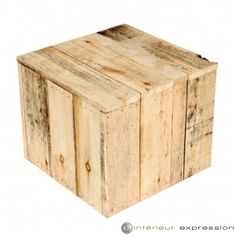 """Table Basse Bois Brut """"BARDEAU"""" Gamme éco-durable"""