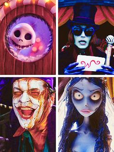 The Nightmare Before Christmas, Charlie and The Chocolate Factory, Batman, and Corpse Bride