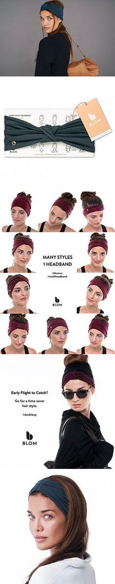BLOM Multi Style Headband for Sports or Fashion, Yoga or Travel. Happy Head Guarantee - Super Comfortable. Designer Style & Quality (Dark Teal)