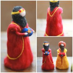 The three wise men Magi Needle felted Nativity by CloudBerryCrafts